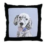 English Setter (Blue Belton) Throw Pillow