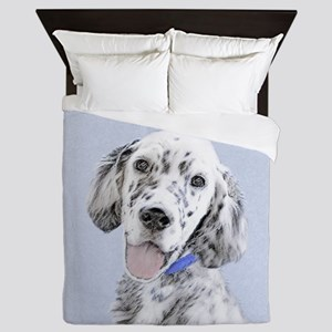 English Setter (Blue Belton) Queen Duvet
