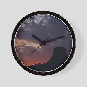 Towering Sunset Wall Clock
