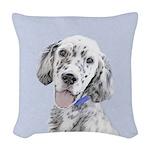 English Setter (Blue Belton) Woven Throw Pillow