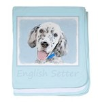 English Setter (Blue Belton) baby blanket