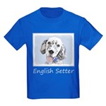 English Setter (Blue Belton) Kids Dark T-Shirt