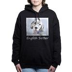 English Setter (Blue Bel Women's Hooded Sweatshirt