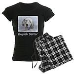 English Setter (Blue Belton) Women's Dark Pajamas