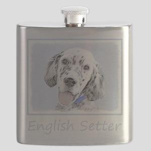 English Setter (Blue Belton) Flask
