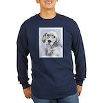 English Setter (Blue Belt Long Sleeve Dark T-Shirt