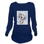 English Setter (Blue Long Sleeve Maternity T-Shirt