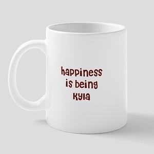 happiness is being Kyla Mug
