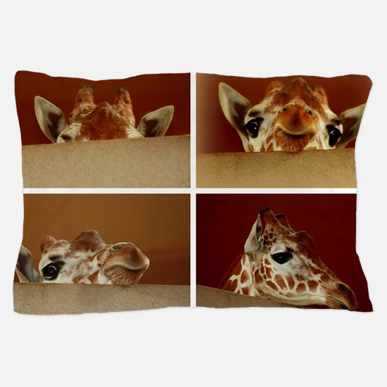 Giraffe Collage Pillow Case