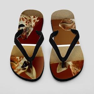 Giraffe Collage Flip Flops