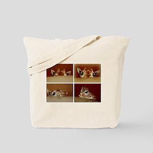 Giraffe Collage Tote Bag