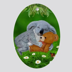 NAPTIME WITH TEDDY BEAR Ornament (Oval)