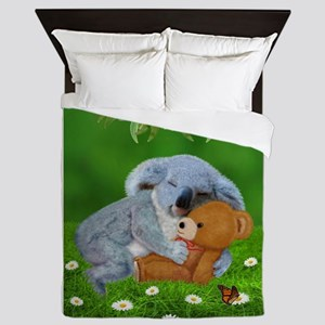 NAPTIME WITH TEDDY BEAR Queen Duvet