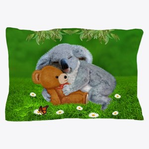 NAPTIME WITH TEDDY BEAR Pillow Case