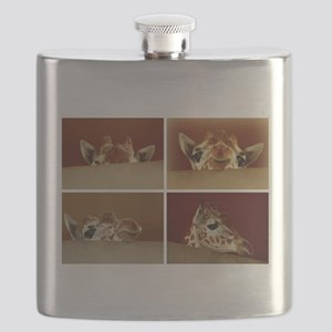 Giraffe Collage Flask