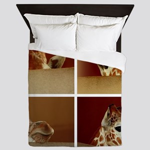 Giraffe Collage Queen Duvet
