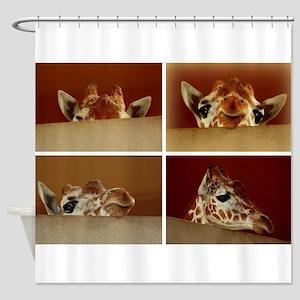 Giraffe Collage Shower Curtain