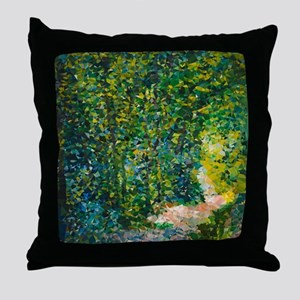 Van Gogh Path in the Woods Throw Pillow