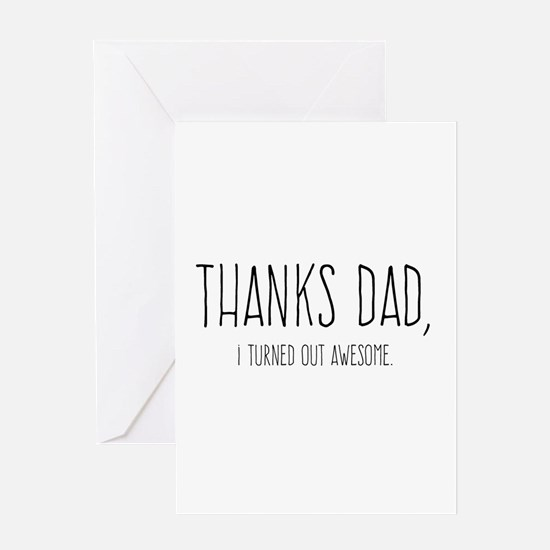 Thanks Dad Greeting Cards