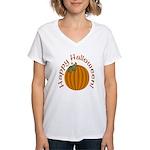 Happy Halloween! Women's V-Neck T-Shirt