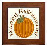 Happy Halloween! Framed Tile
