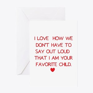 Favorite Child Greeting Cards