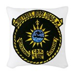 USS FRED T. BERRY Woven Throw Pillow