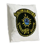 USS FRED T. BERRY Burlap Throw Pillow