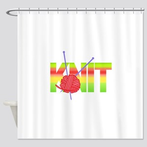 LARGE KNIT Shower Curtain