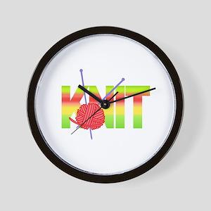 LARGE KNIT Wall Clock