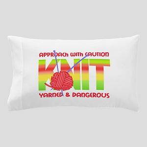 KNIT YOUR CARES AWAY Pillow Case