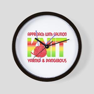 KNIT YOUR CARES AWAY Wall Clock