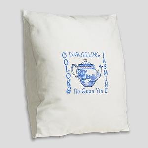ASIAN TEAS Burlap Throw Pillow