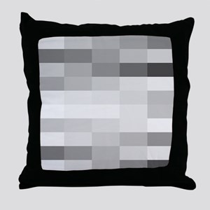 shades of gray Throw Pillow