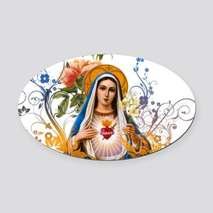 Immaculate Heart of Mary Oval Car Magnet