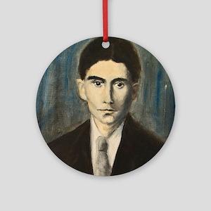 Franz Kafka Round Ornament