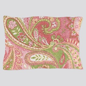 Baby Pink Paisley Watercolor Pillow Case