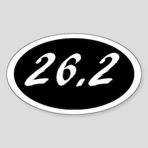Marathon 26.2 on a black background with w Sticker