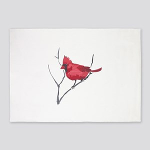 CARDINAL ON BRANCH 5'x7'Area Rug