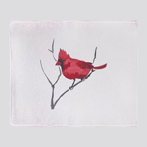 CARDINAL ON BRANCH Throw Blanket