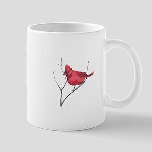 CARDINAL ON BRANCH Mugs