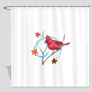 AUTUMN CARDINAL Shower Curtain