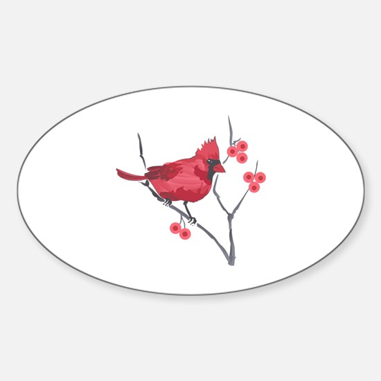 CARDINAL AND BERRIES Decal