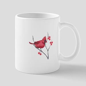 CARDINAL AND BERRIES Mugs