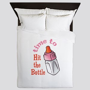 TIME TO HIT THE BOTTLE Queen Duvet