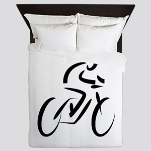 Cyclist Queen Duvet