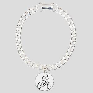 Cyclist Charm Bracelet, One Charm