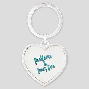 Footloose & Fancy Free Heart Keychain
