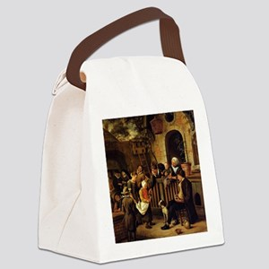 Jan steen - The Little Alms Colle Canvas Lunch Bag