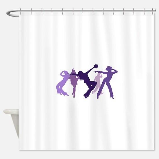 Jazz Dancers Illustration Shower Curtain